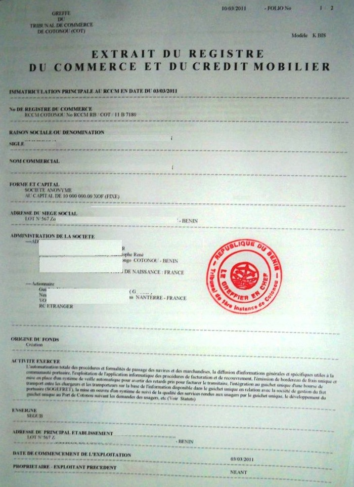 Eregulations garoua - Immatriculation chambre de commerce ...
