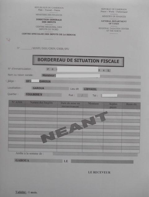 Eregulations Garoua